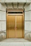 Puertas de oro Foto de archivo libre de regalías