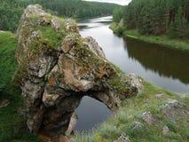Puertas de piedra Imagen de archivo libre de regalías