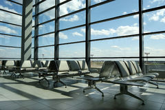Puertas del aeropuerto Imágenes de archivo libres de regalías