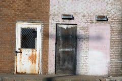 Puertas del callejón Fotografía de archivo