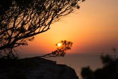 Puertas del Cielo, Ibiza, Islas Baleares, Spain. Sunset in Purtas del Cielo, Ibiza, Islas Baleares, Spain stock images