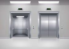 Puertas del elevador Foto de archivo libre de regalías