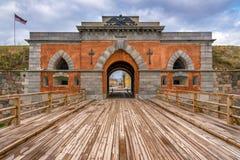 Puertas del emperador y puente de madera Imagen de archivo libre de regalías
