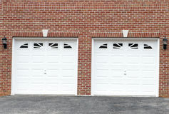Puertas del garage Imágenes de archivo libres de regalías