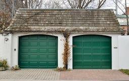 Puertas del garage Fotos de archivo libres de regalías