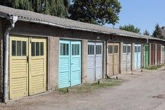 Puertas del garaje Fotografía de archivo