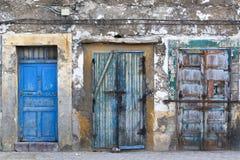 Puertas del Grunge en el Medina de Essaouira Fotografía de archivo