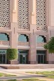 Puertas del hotel del palacio de los emiratos Fotografía de archivo libre de regalías