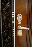 Puertas del metal de la entrada Imágenes de archivo libres de regalías