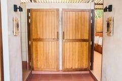 Puertas del retrete Fotos de archivo