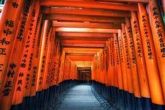 Puertas del taisha del inari de Fushimi foto de archivo libre de regalías