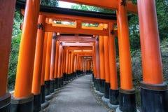 Puertas del taisha del inari de Fushimi fotos de archivo