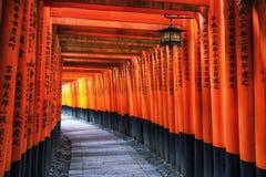 Puertas del taisha del inari de Fushimi imagen de archivo