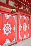 Puertas del templo de Bentendo en Tokio, Japón Imagen de archivo libre de regalías