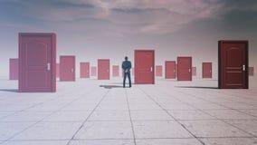 Puertas difíciles de las decisiones fotos de archivo libres de regalías