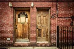 Puertas dobles fotografía de archivo