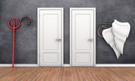 Puertas en diversos lugares libre illustration