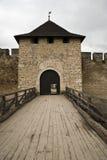 Puertas en el castillo de Khotyn Foto de archivo libre de regalías