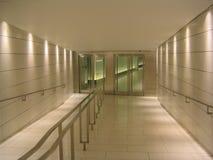 Puertas en el extremo del pasillo subterráneo Fotografía de archivo