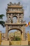 Puertas en el templo del Buda, Vietnam, MuiNe, PhanThiet Imagen de archivo libre de regalías