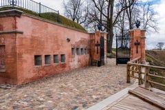 Puertas en la fortaleza de Daugavpils Foto de archivo