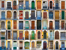 Puertas en Sicilia, Italia Fotografía de archivo libre de regalías