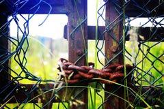 Puertas encadenadas Fotografía de archivo libre de regalías