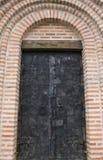 Puertas enormes al templo ucrania Imágenes de archivo libres de regalías