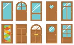 Puertas fijadas stock de ilustración