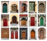 Puertas fijadas Foto de archivo