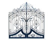 Puertas forjadas de antaño. Fotografía de archivo