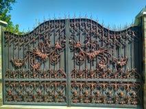 Puertas forjadas del hierro Fotos de archivo libres de regalías