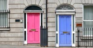 Puertas georgianas en Dublín imágenes de archivo libres de regalías