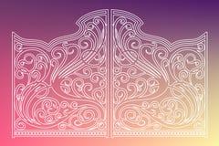 Puertas hermosas del ornamento del hierro Imagen de archivo
