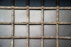 Puertas magníficas del labrado-hierro, forja ornamental, primer forjado de los elementos Fotografía de archivo libre de regalías