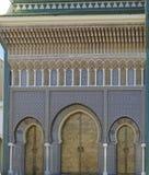 Puertas masivas del palacio nacional fotografía de archivo