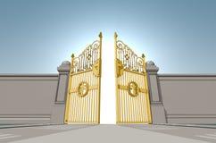 Puertas nacaradas de los cielos ilustración del vector