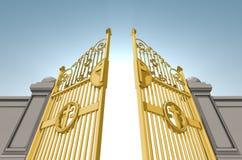 Puertas nacaradas de los cielos stock de ilustración