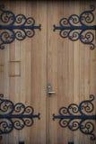 Puertas para entrar en la iglesia de Akureyrarkirkja en Akureyri Islandia Imágenes de archivo libres de regalías