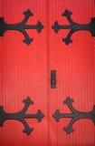 Puertas rojas Foto de archivo libre de regalías