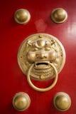 Puertas rojas antiguas Imágenes de archivo libres de regalías