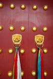 Puertas rojas antiguas Foto de archivo libre de regalías