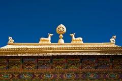 Puertas tibetanas del monasterio.  La India, Ladakh foto de archivo libre de regalías