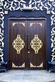 Puertas tradicionales de la casa del Malay Imagen de archivo libre de regalías