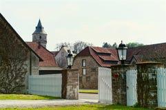 Puertas a un patio viejo en Alemania Imagen de archivo