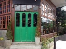 Puertas verdes Fotografía de archivo libre de regalías