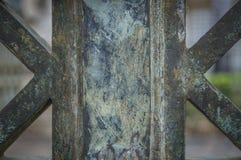 Puertas verdes oxidadas del hierro en el parque Foto de archivo