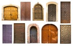 Puertas viejas de la vendimia de Lviv Fotos de archivo libres de regalías