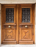 Puertas viejas del roble Foto de archivo libre de regalías