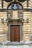 Puertas viejas del teatro en Oxford Fotos de archivo